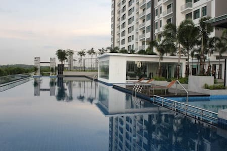 [4 Guests] Aeon & Tesco @Bukit Indah WIFI & Dryer