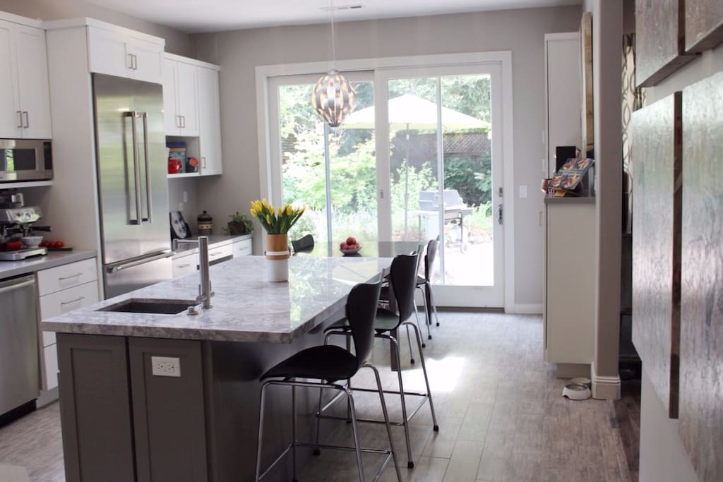Newly remodeled gourmet kitchen with tons of natural light