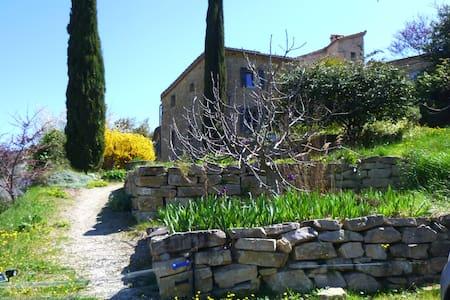 maison pleine nature Drôme provenç. - Châteauneuf-de-Bordette - Rumah