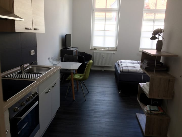 Neue, zentral gelegene, 1-Zimmer-Wohnung