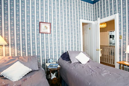 The Viscount room can have two twin beds or one king.  It has a large closet.
