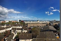 Lovely views across the the city