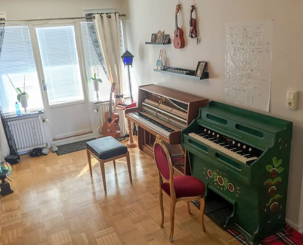 Musicians nest - excellent communications! - Göteborg - Appartement