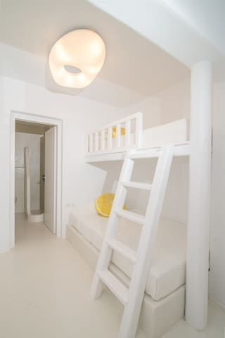 Kids love the bunk beds on the lower floor and even adults enjoy sleeping in this cozy cave!