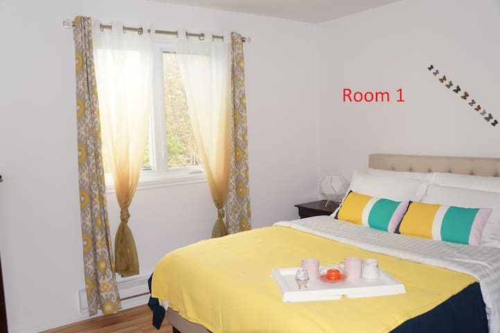 Room 1, this is where you will stay
