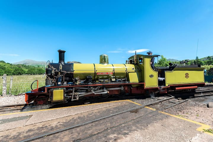 Take a trip down the valley on the Ravenglass and Eskdale Narrow Gauge Steam Railway - 400m from the cottages!