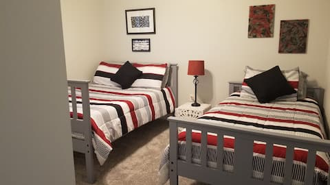 Cozy, private new home located in small  town