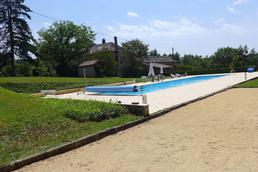 Long view of Lap Pool LaBouyssiere Cassagnes