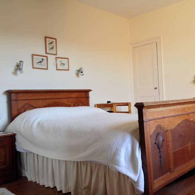 Master Double bed, Antique oak frame Second floor