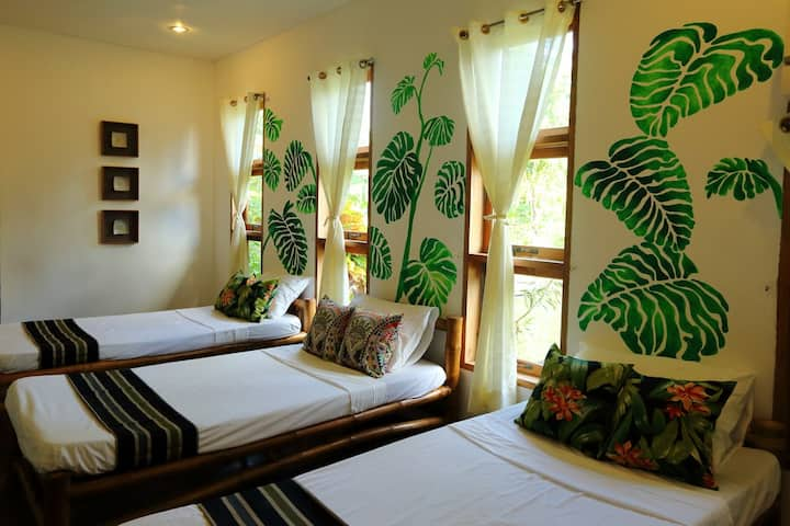 Botanical Bedroom in a Homey Bed & Breakfast