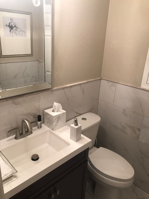 Shared half bath (downstairs)