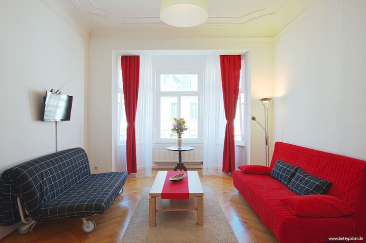 Apartment -zentral, Arena, HHL,Wifi