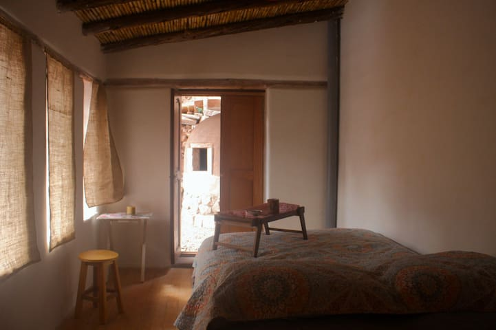 Enchanted room in adobe house in the Sacred Valley