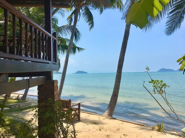 Beach front House Sea View First Row Hin Kong 1 ❤️