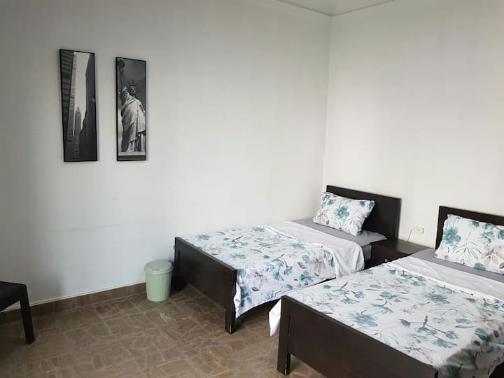 Spacious  room with private sitting and bathroom