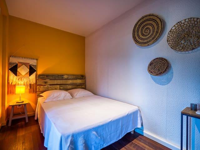Chambre 2 climatisée, lit 140  - Lodge Coco Deshaies