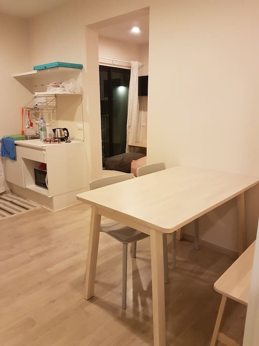 kitchen and dinning zone