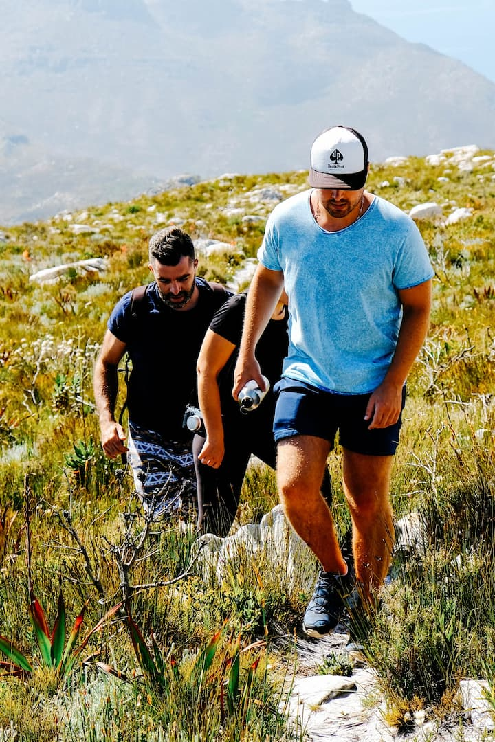 Follow the trail through young Fynbos