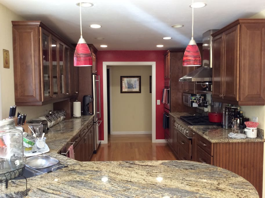 Kitchen with granite counters and everything you need to cook like a chef