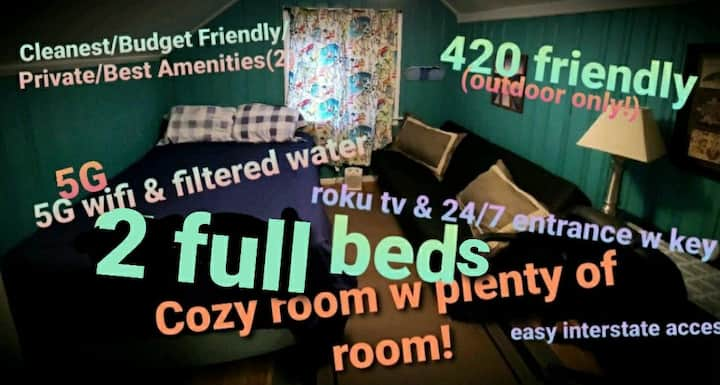Cleanest/Budget Friendly/Private/Best Amenities(2)