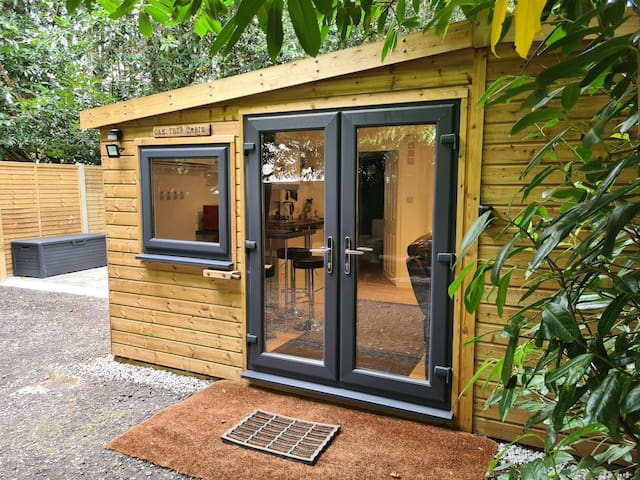 Private woodland cabin, two miles from the beach