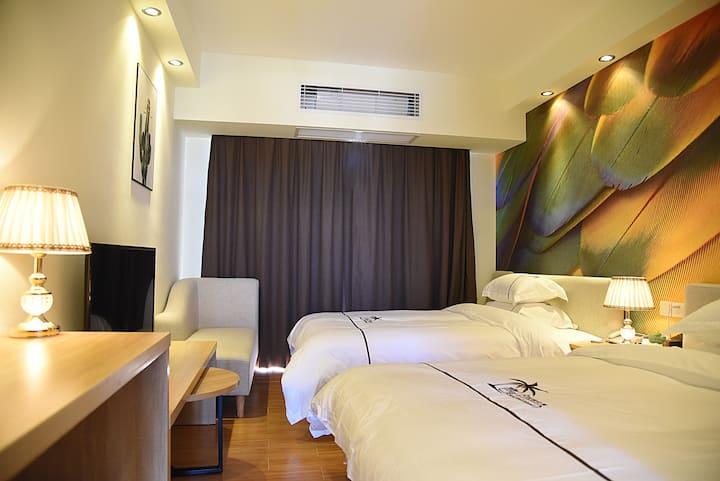 碧桂园●月亮湾&高层海景度假公寓&双床房(高层观海阳台)