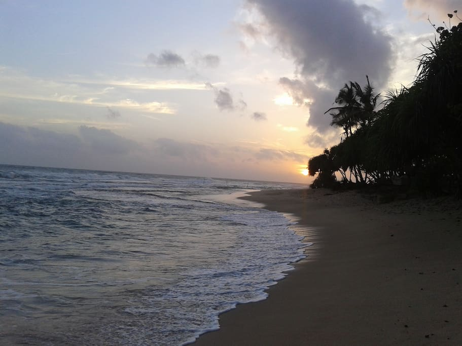 Beach sunset close to the home stay