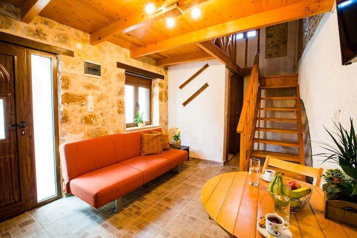 Stone Pearl built house in a Cretan Village!