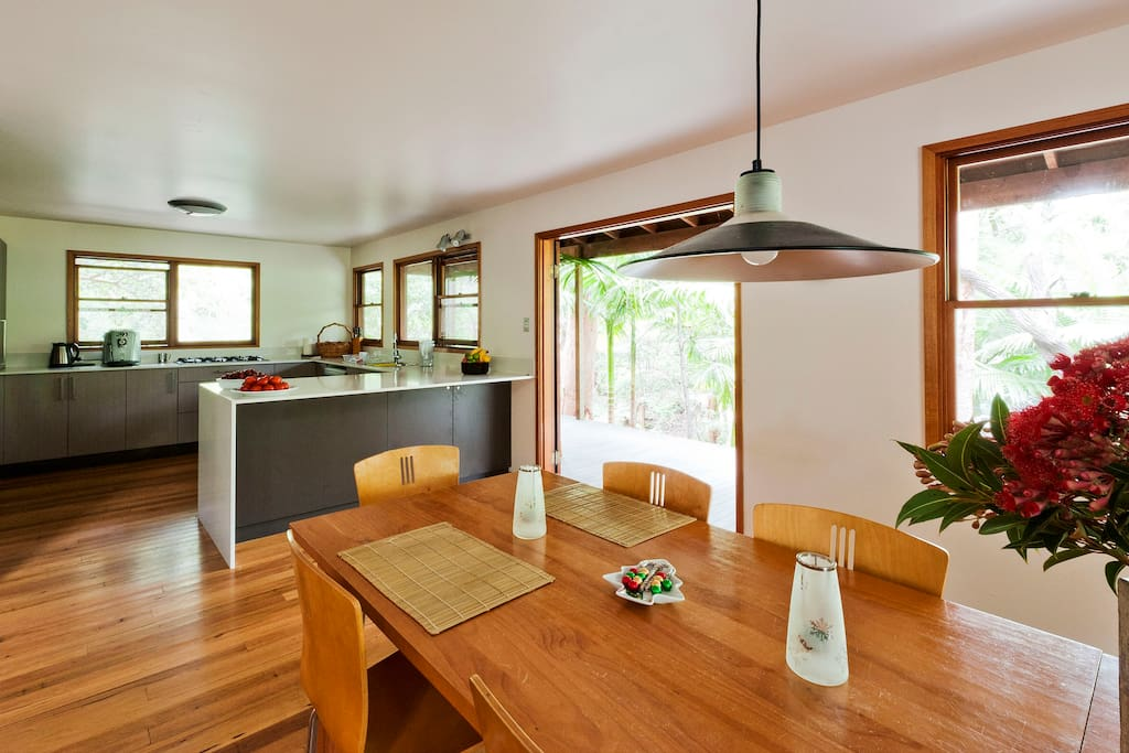 Stunning large kitchen and open dining area