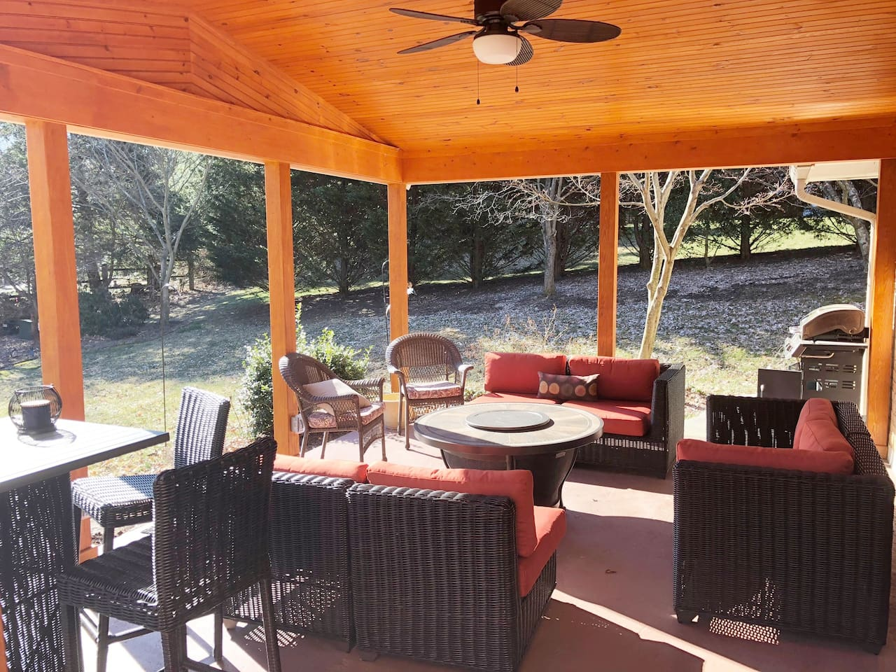 Back Porch with Firepit