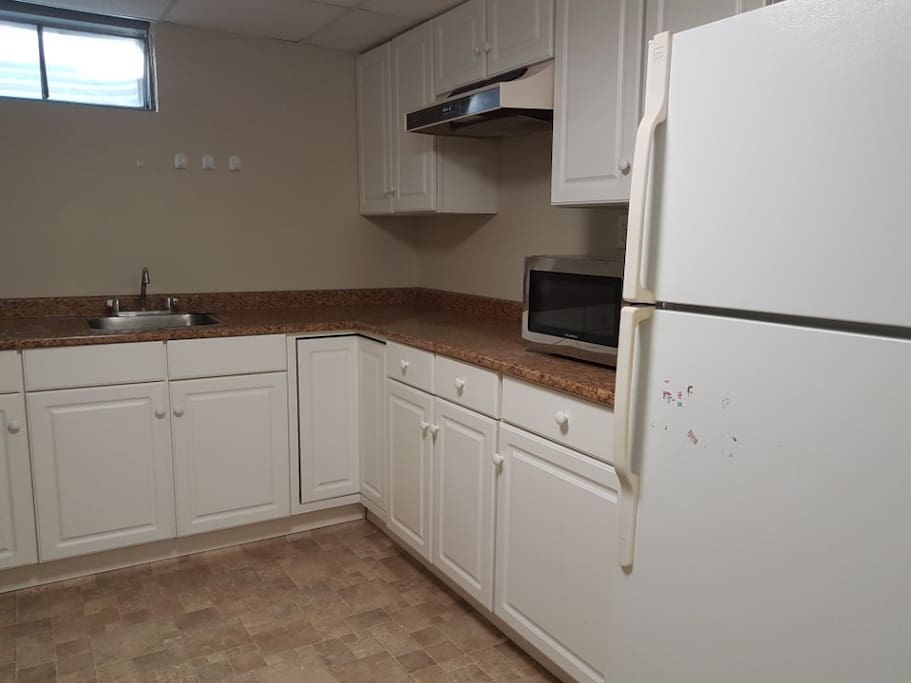 you can use the kitchen, stove, microwave included. there are also a washer and a dryer