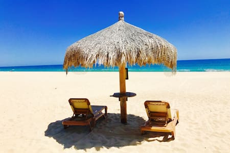 Comfortable private sense of place, on the beach!