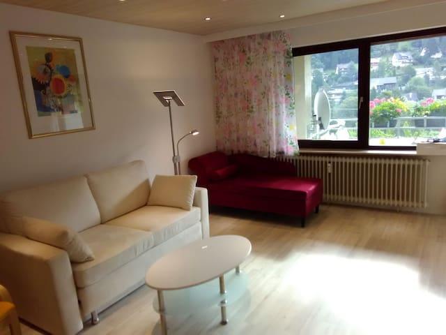 Ferienwohnung Talblick, (Bad Wildbad), Ferienwohnung Talblick, 75qm, 1 Schlafzimmer, 1 Wohnzimmer, max. 4 Personen