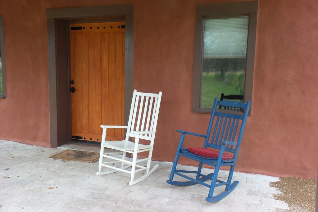 Strawbale House front porch