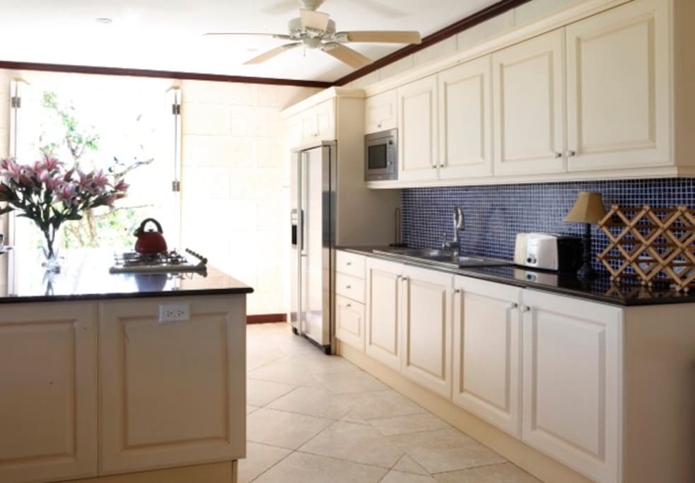 Spacious and very functional kitchen.  Cook available should you require.