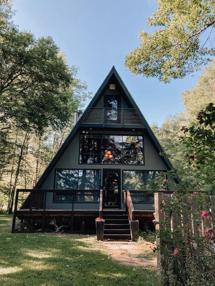 The Catskill A-Frame - Mid-Century Modern Cabin