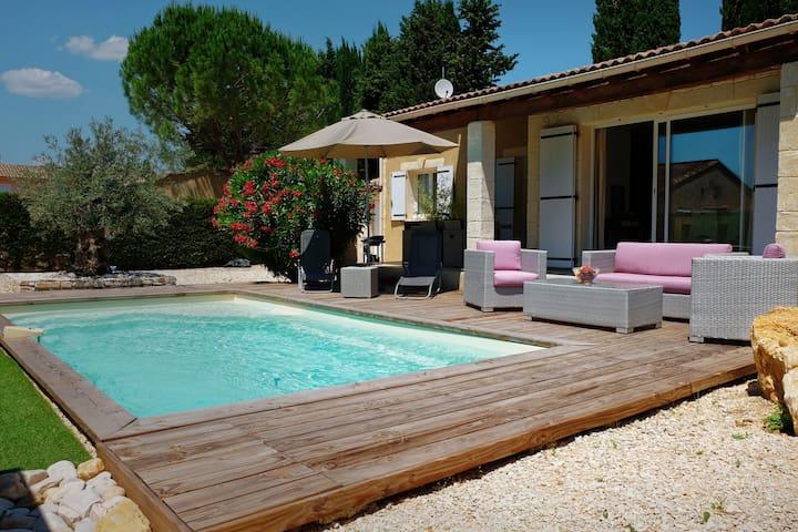 Maison 3 * tout confort, piscine privée & chauffée