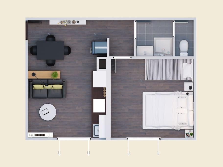Petit plan de l'appartement