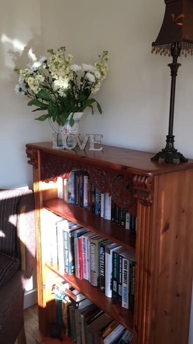 Lots of books in the cottage to enjoy during your stay