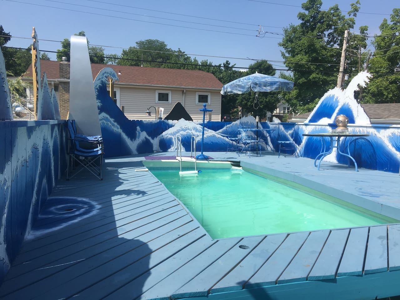 Pool is open now!! From May 3rd  till October 1st.
