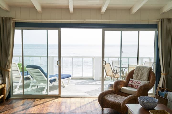 Charming Ocean Front Malibu Beach Bungalow Style