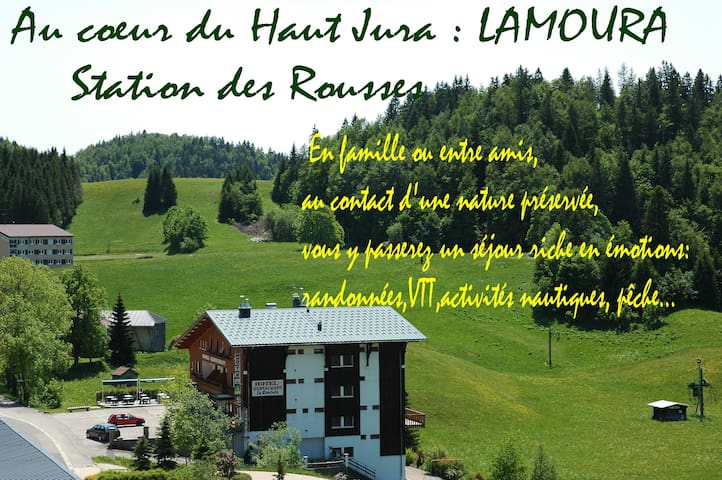 Appart 5/6 pers**  LAMOURA/les ROUSSES / HAUT-JURA