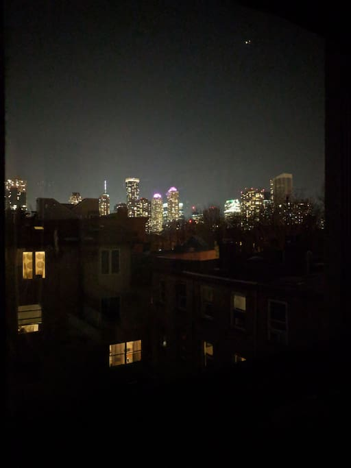 Night view from the kitchen window