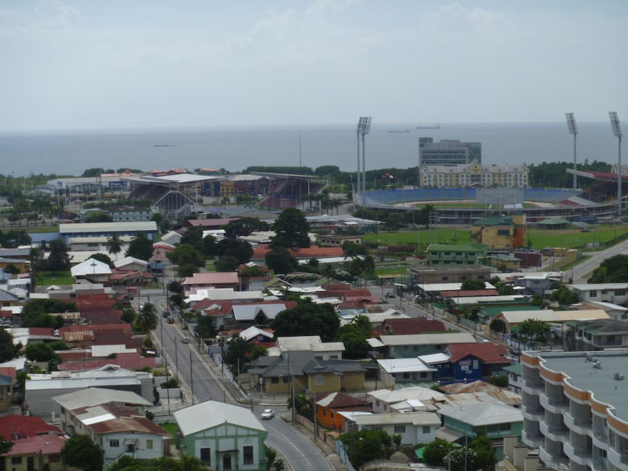 Southerly View of Stadium and Sea in  the Background