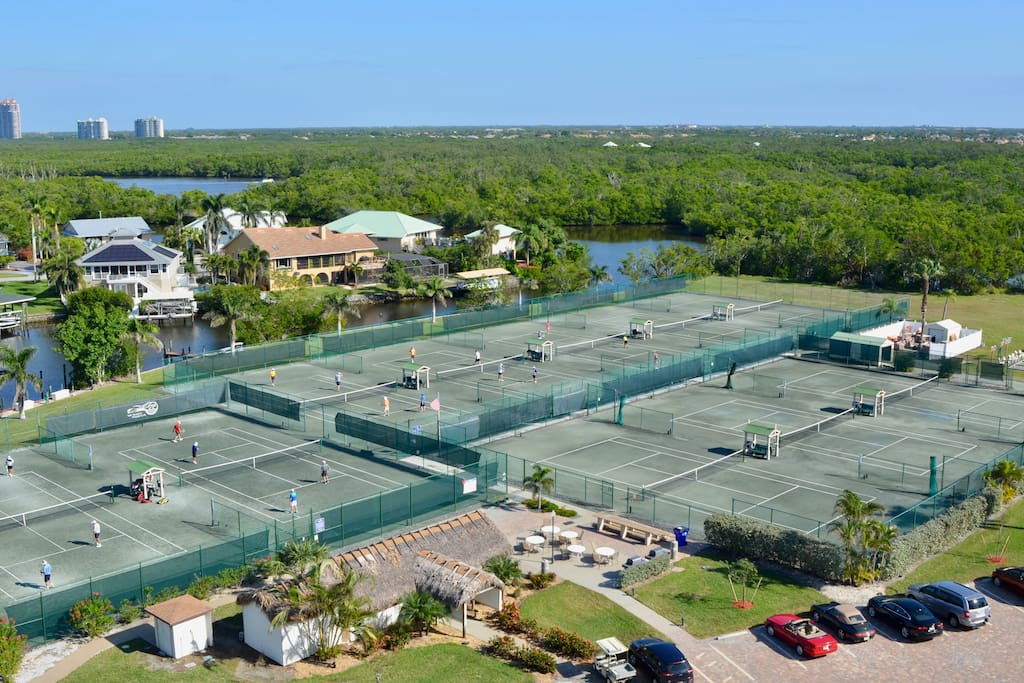 10 Clay Tennis Court on the Property