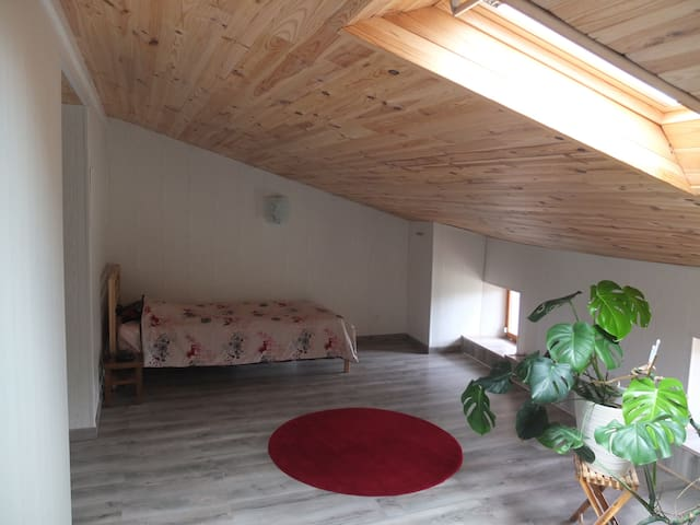 Chambre avec 1 lit simple dans ferme Lauragaise