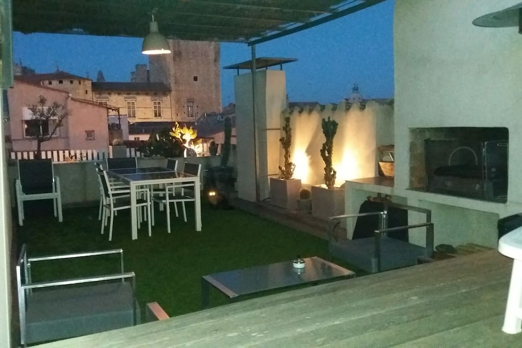 Terrasse barbecue