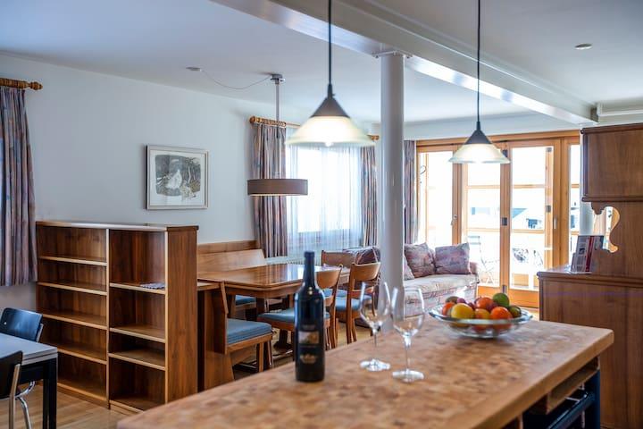 Ferienwohnung Steinröschen, (Flumserberg Tannenboden), 3.5-room appartement bath/shower/terrace