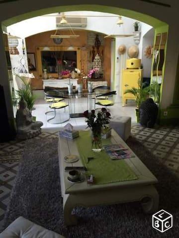 Maison de maître avec piscine et barbecue - Bessan - Apartment