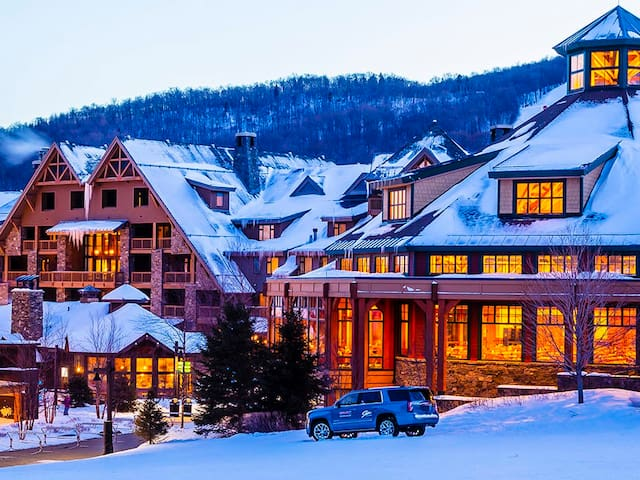 #332 | Inside The Lodge At Spruce Peak | Ski in Ski Out | 3rd Floor Big Mountain Views | Close to the amenties